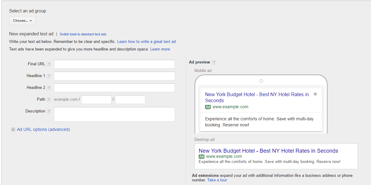 AdWords Expanded Ads Builder