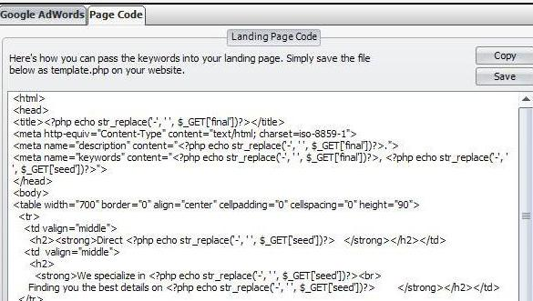 Dynamic Landing Pages PHP Page Code Detail